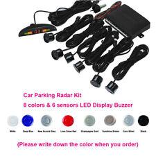 Car Parking Radar Kit 6 Sensors+LED Display Buzzer Backup 8 Colors DC12V Reverse