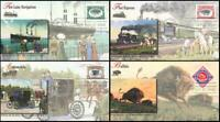 Pan American Inverts Singles Set of 4 Fleetwood First Day Covers 2001 3505a -d