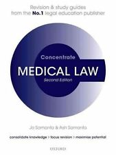 Medical Law Concentrate: Law Revision and Study Guide, Good Condition Book, Sama