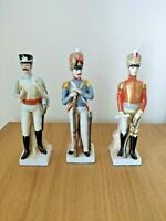 RARE VINTAGE COLLECTIBLE MODELS 3x NAPOLEON ARMY FIGURINES STATUES 9""