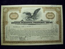 BOSTON PERSONAL PROPERTY TRUST STOCK CRTIFICATE