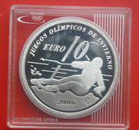 "Spain-Spanien 10 Euro 2005 Silber Proof-PP ""Olympia"" EU Silver #F 0435"