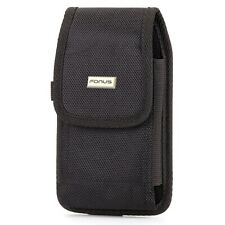 Rugged Case Belt Clip Holster Canvas Cover Pouch Carry Z2D for Cell Phones