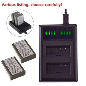 Battery or Dual USB Charger for Olympus BLN-1 BLN1 OM-D E-M1 PEN E-P5 Camera