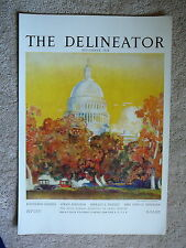 THE DELINEATOR MAGAZINE 1924 ORIGINAL STORE NEWS STAND DISPLAY POSTER SIGN 11x16