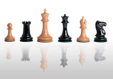 "The Cooke Luxury Chess Set - Pieces Only - 3.625"" King - Genuine Ebony"