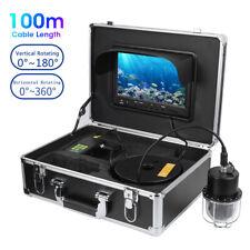 "9"" HD 360° 20-100m Fishing Camera Underwater Fish Finder DVR Video Recorder LED"