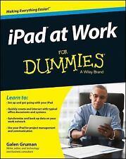 iPad at Work For Dummies, Gruman, Galen, Good Condition, Book