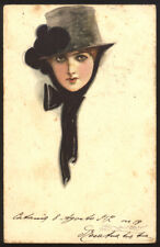 cartolina d'epoca-post card-illustratore MAUZAN-DONNINE,WOMAN,LADY DECO' 16