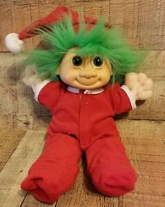 """Vintage Russ Berrie Troll Doll Christmas Elf 12"""""""