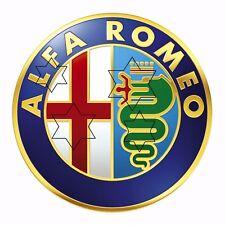 VINTAGE ALFA ROMEO CAR    DECAL STICKER LABEL 9 INCH DIA 230 MM HOT ROD