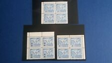 "Canada #'s 414 "" 7c, 430 8c on 7c,436 8c, CHECK Price bks of 4 mnh CV $7.40"