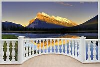 Huge 3D Balcony Exotic Mountain Range Wall Stickers Decal Wallpaper S13