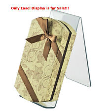 """Case of 10 New Clear Acrylic Easel Display 4.5""""W x 9.5""""D x 10.5""""H"""