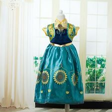 Girls Anna 'Frozen Fever' New Costume Dress, sizes 2 - 6 years old.