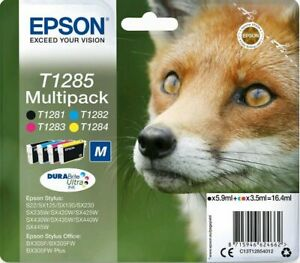 Genuine Epson T1285 Multipack B/C/M/Y Ink Cartridge Set | FREE 🚚 DELIVERY