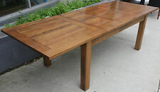 NEW SOLID TASMANIAN OAK Extension Dining Table + Freight to Melbourne