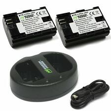 Wasabi Power Battery (2-Pack) and Dual USB Charger for Canon LP-E6, LP-E6N