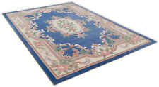 LIGHT BLUE CHINESE AUBUSSON TRADITIONAL HAND TUFTED RUGS 120x170cm