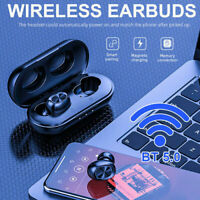 TWS Mini Earbuds Stereo Headphones Bluetooth 5.0 Headset  Wireless Earphones
