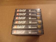 6 Stück, leere BASF LH SM cassette 90 (LK2)