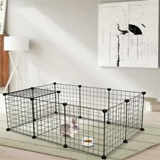 Us 12 Panel Pet Playpen For Cat Dog Exercise Cage Iron Mesh Puppy Crate Fence