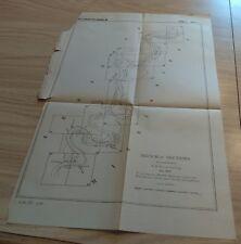 1883 Mississippi River Commission Sketch Map Comparing River Bottom Spring Flood
