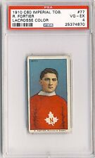 R. FORTIER 1910-11 C60 Imperial Tobacco Lacrosse #77 PSA 4 Quebec 4870