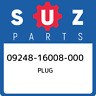 09248-16008-000 Suzuki Plug 0924816008000, New Genuine OEM Part