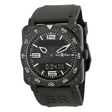 Bell and Ross Type Aviation Black Dial Black PVD Mens Watch BR0392-AVIA-CA