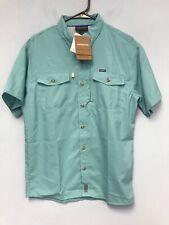 Patagonia Mens Sol Patrol II Shirt Short Sleeves Dam Blue Size S
