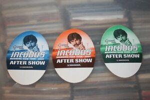 Incubus  - 3x unused Backstage Pass - Lot # 05    - FREE POSTAGE --