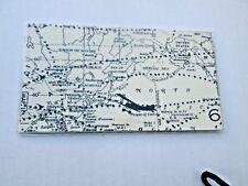 Vintage Air Travel Map Checkbook Cover Fabric w vinyl Custom Handmade