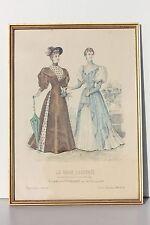 REPRODUCTION ENCADREE SOUS-VERRE - LA MODE ILLUSTREE 1894 N° 15 - 37 x 27 cm