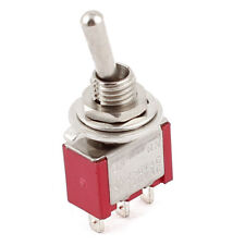 AC 250V/2A 120V/5A ON/ON 2 Position SPDT Mini Micro Toggle Switch Red J6P1
