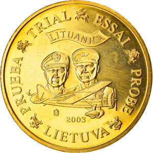 [#866349] Coin, Lithuania, Fantaisist trial, 50 Cents, 2003, MS(63)