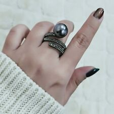 Ring For Women Vintage Gray Simulated Pearl Wedding Party Fashion Jewelry