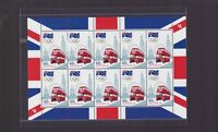 2012 Road to London Sheetlet of 10 x 60 Australian Stamps double decker bus -