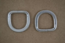 "D-Ring - 1"" - Stainless Steel - Flattened Ends - Pack of 6 (B195)"