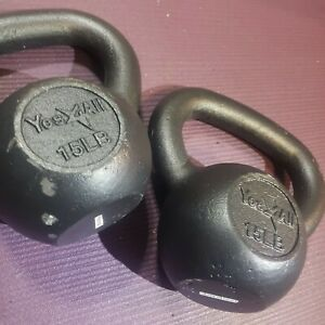 NEW 15lb Kettlebell SET , 30 pounds total weight,  kettle bell, pair of 15lbs