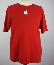 Apple Logo LARGE Red Apple Store Employee Uniform T Shirt Embroidered Mac