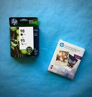NEW GENUINE HP 95 + 98 Ink Cartridges CB327FN OEM 2019 SEALED 95/98 FREE HP A+