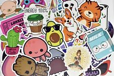 50 Cute Teen Girl Decal Stickers Pack for Laptop Water Bottle Luggage Journal