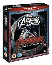 THE AVENGERS 3D Assemble / Age of Ultron [Blu-ray 3D+ 2D] Marvel 2-Movie Box Set