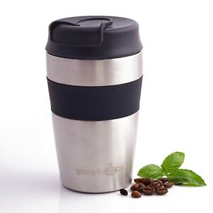 PERKUP Stainless Steel Reusable Coffee Travel Cup - Thermal Insulated Mug 350ml