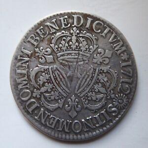 Louis XIVEcu aux trois couronnesAr1712ACat:Dy1568VVF