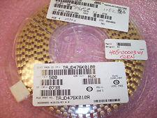 QTY (500) 47uf 10V 10% ROHS D CASE SMD TANTALUM CAPACITORS TAJD476K010R AVX