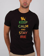 Keep Calm & Stay Irie Rastafari T-Shirt ,Cotton Blend(Adult's Size: S, M, L, XL)