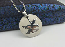 Good Quality Eagle Charm Silver 316L Stainless Steel Pendant Necklace