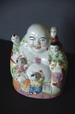 Old Chinese Porcelain Buddha of Children …beautiful accent piece